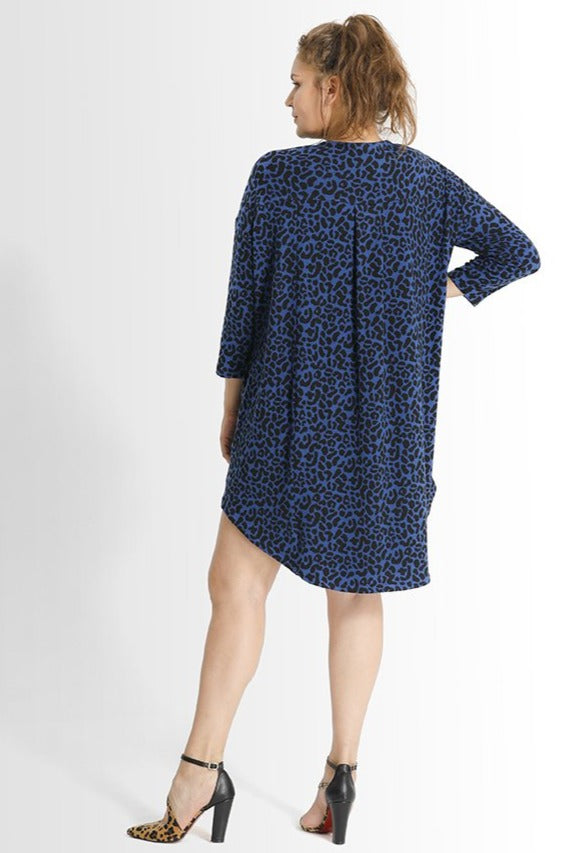 Khrstyana Dress // Blue Leopard