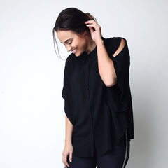 Women's cape sleeve shirt for curvy plus size ladies