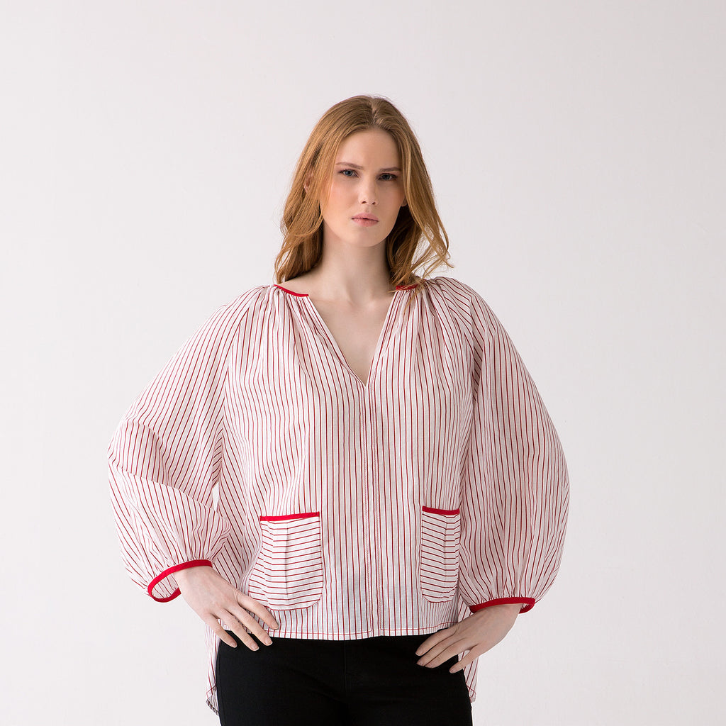 Striped Plus Size Top for Curvy Women