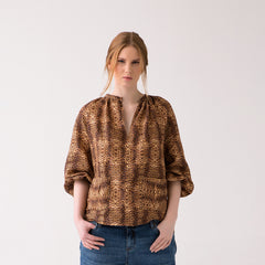 Plus Size Animal Print Top for Women
