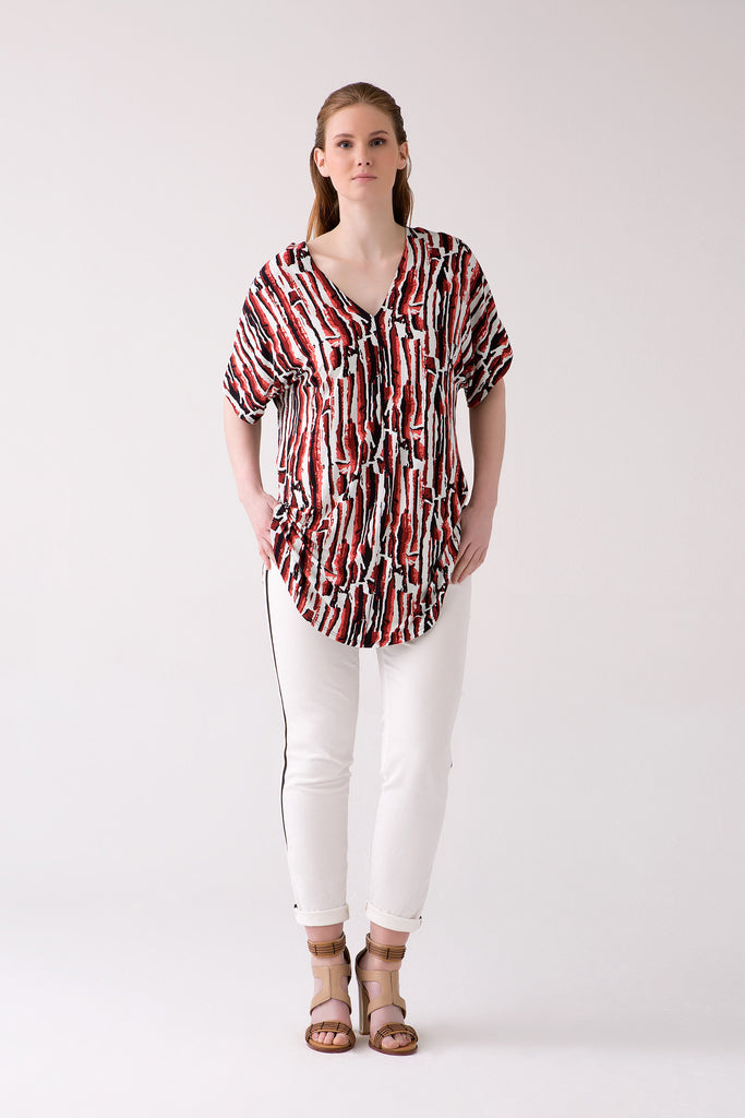 Stylish Printed Tunic in Large Sizes for Curvy Women