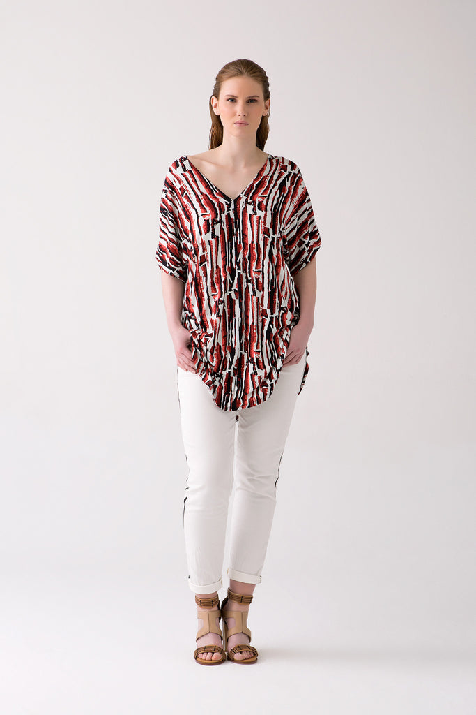 High End Printed Jersey Tunic for Curvy Women