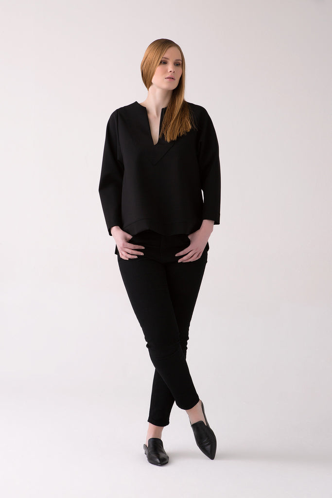 Classy Plus Size Sweatshirt for Curvy Figured Women