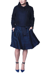 Trendy plus size pleated skirt for ladies