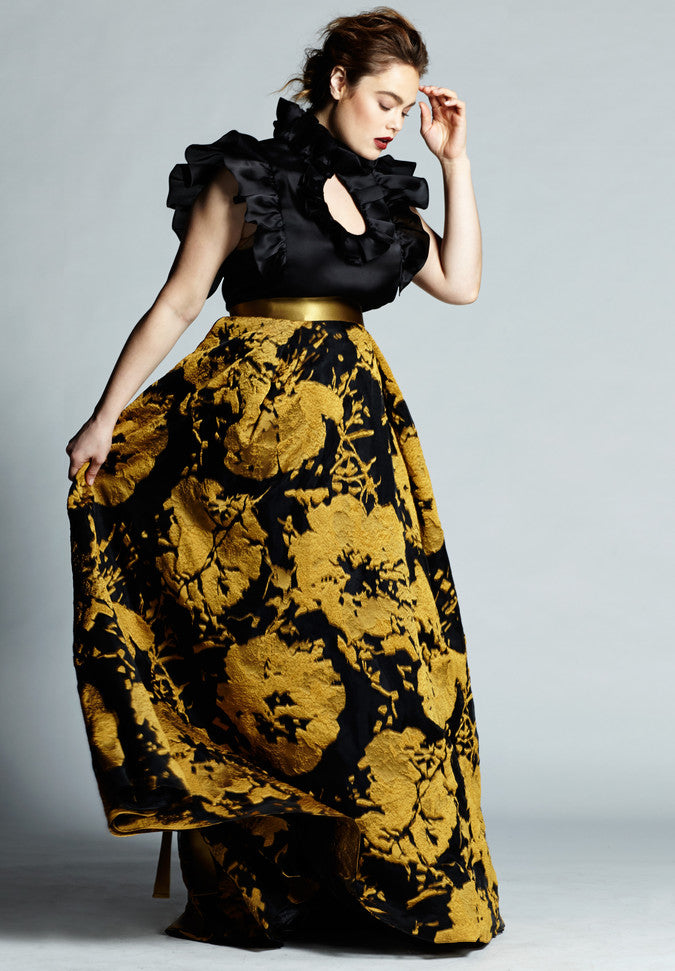 floral occasion skirt ,Plus size