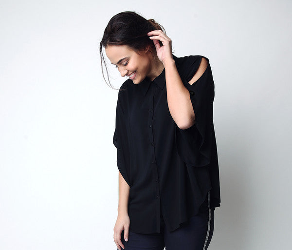 Plus size, Shirt with Shoulder detail