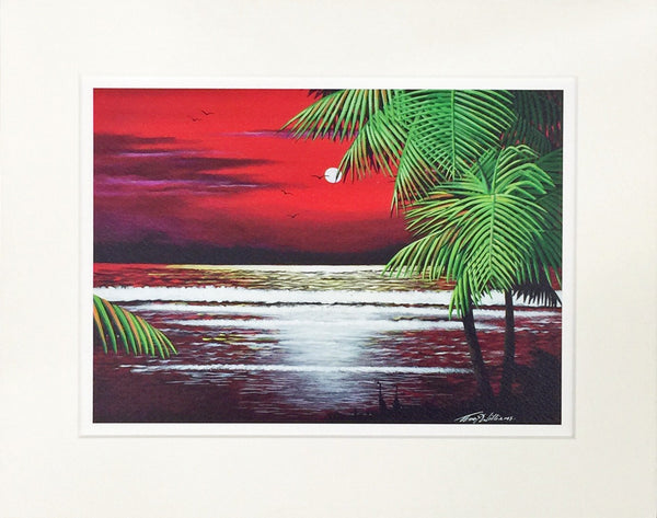 (ML) Caribbean Red Sunset Three  SKU: CRS3-01999