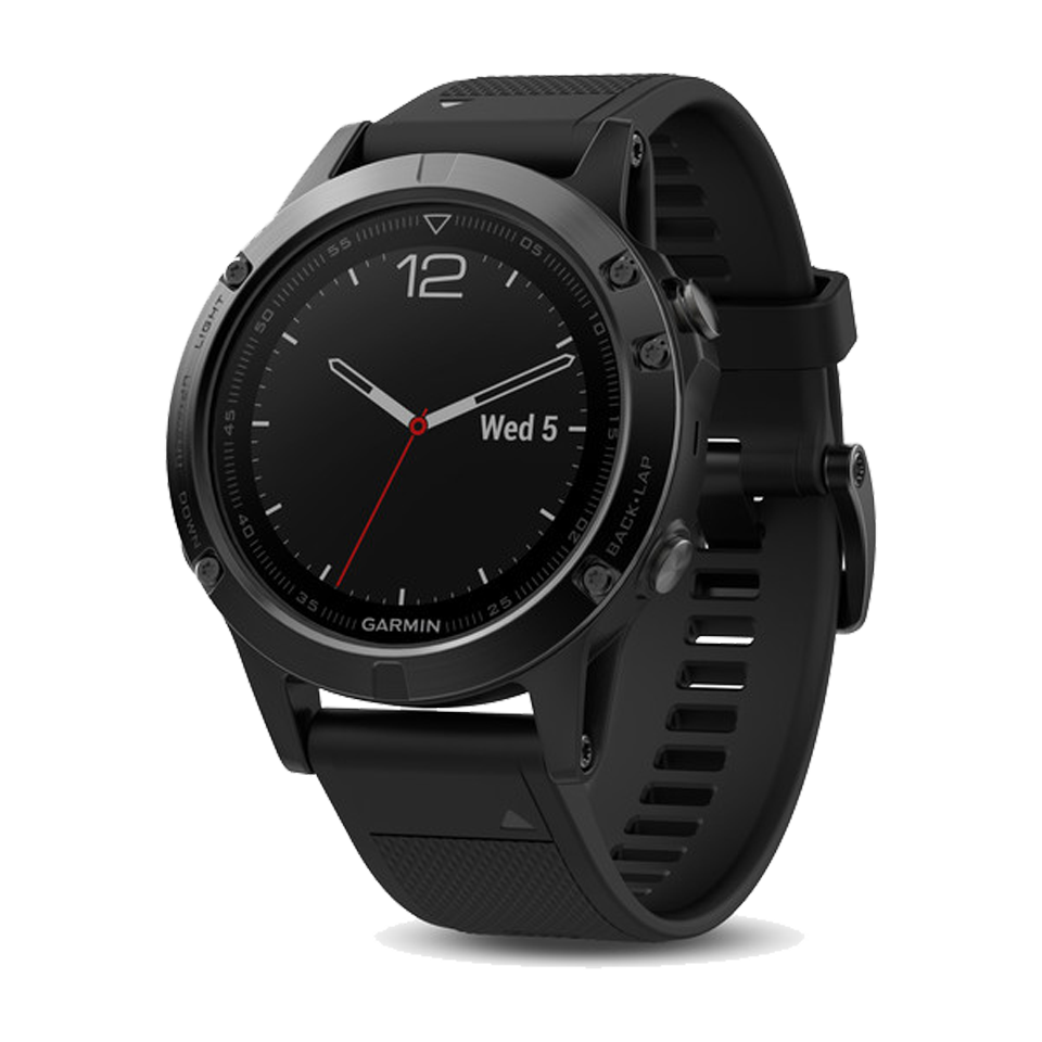 Garmin Fenix 5 Sapphire Glass Black With Black Band