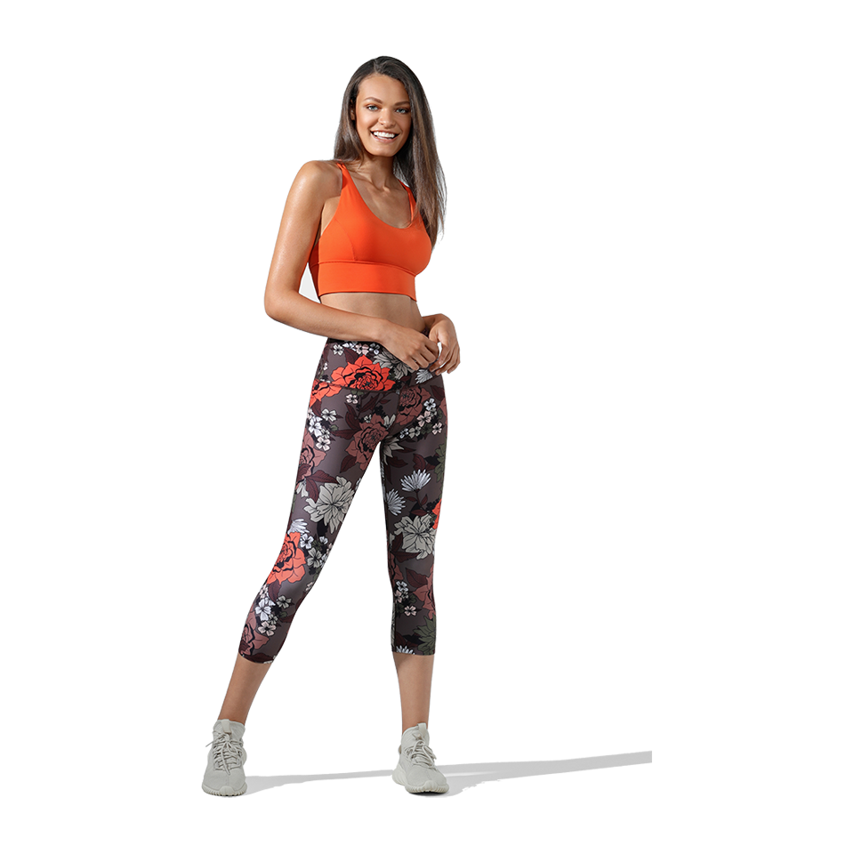 Lorna Jane Women's Hyper Botanica 7/8 Tight Botanica Print