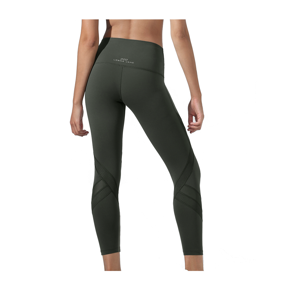 Lorna Jane Edge Core Ankle Biter Tight Dark Safari