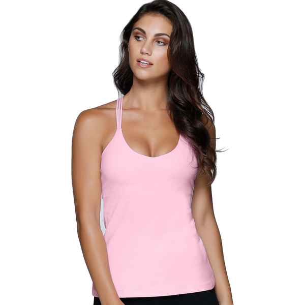 Lorna Jane Women's Graceful Yoga Tank Romance Pink