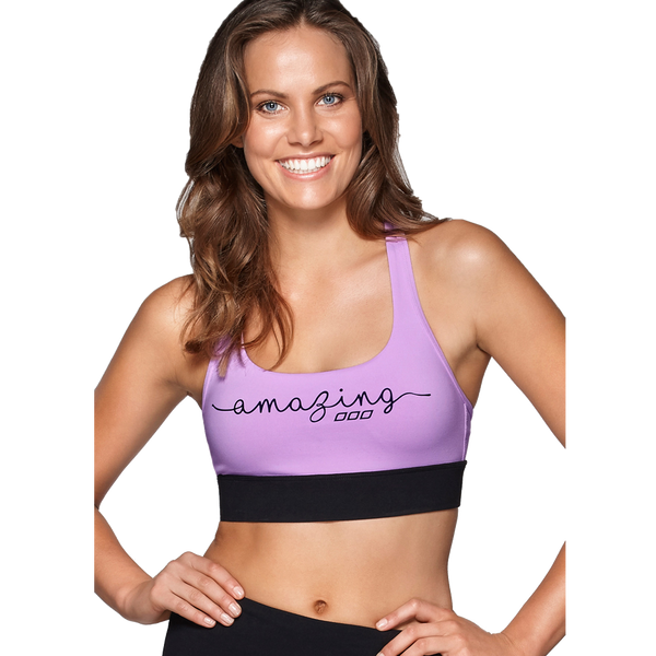 Lorna Jane Women's Amaze Sports Bra Soft Lilac