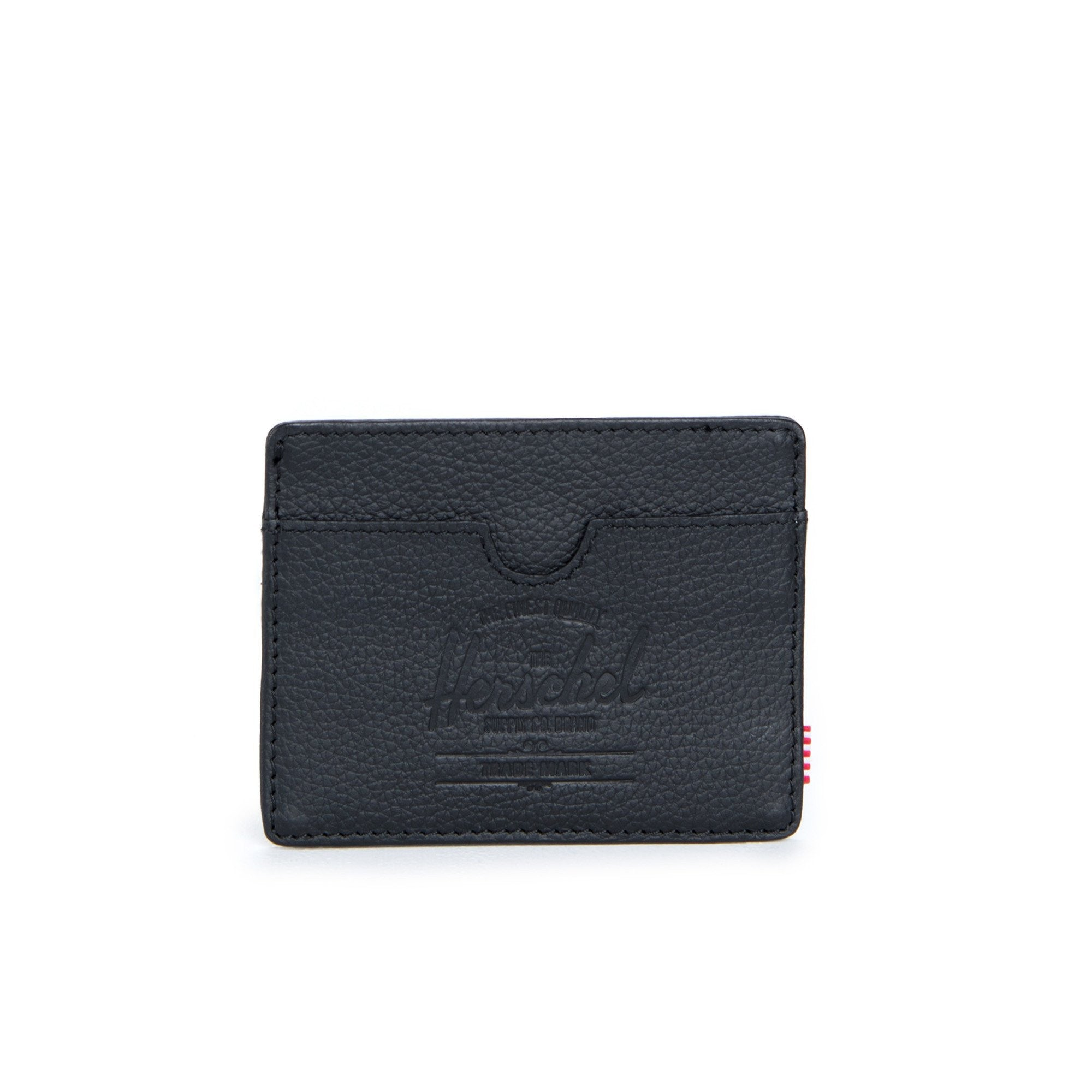 Herschel Charlie Leather Wallet Black