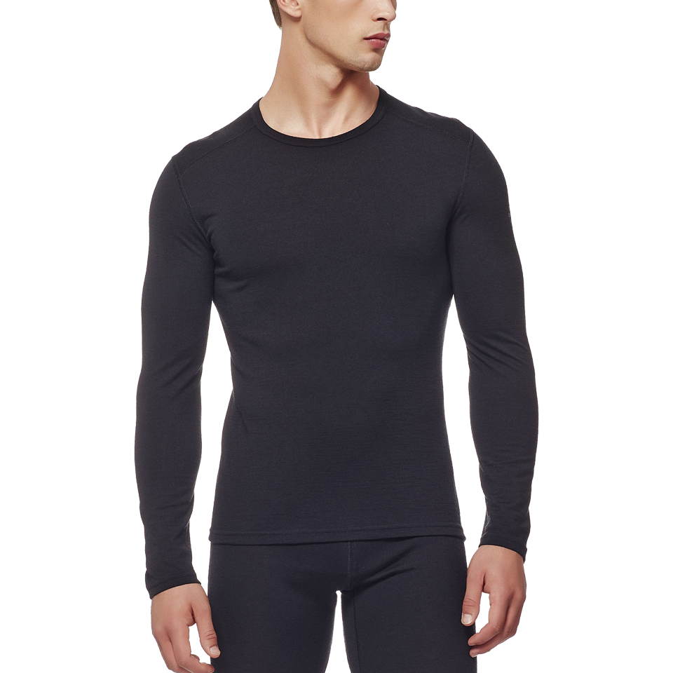 Icebreaker Men's Oasis Long Sleeve Crew Black