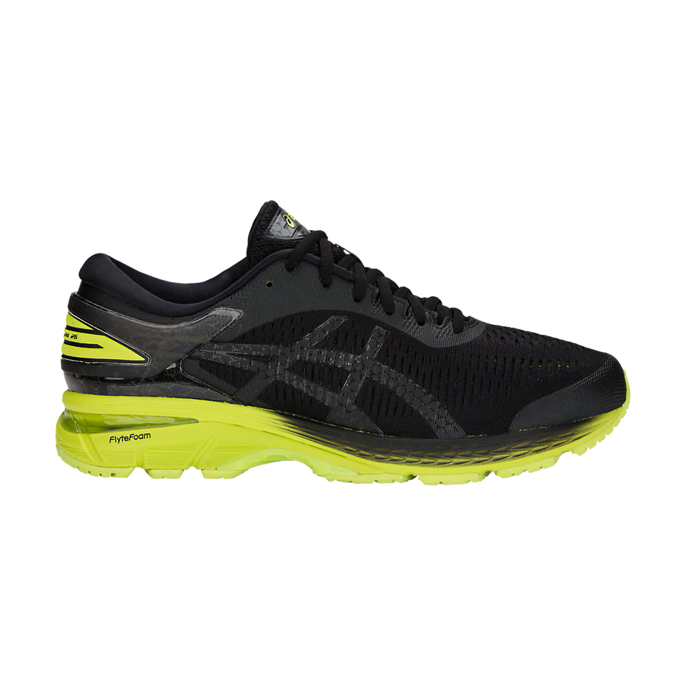 Asics Men's Gel-Kayano 25 Black/Neon Lime