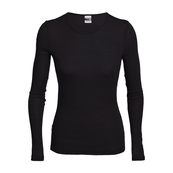 Icebreaker Women's Everyday Long Sleeve Crew Black
