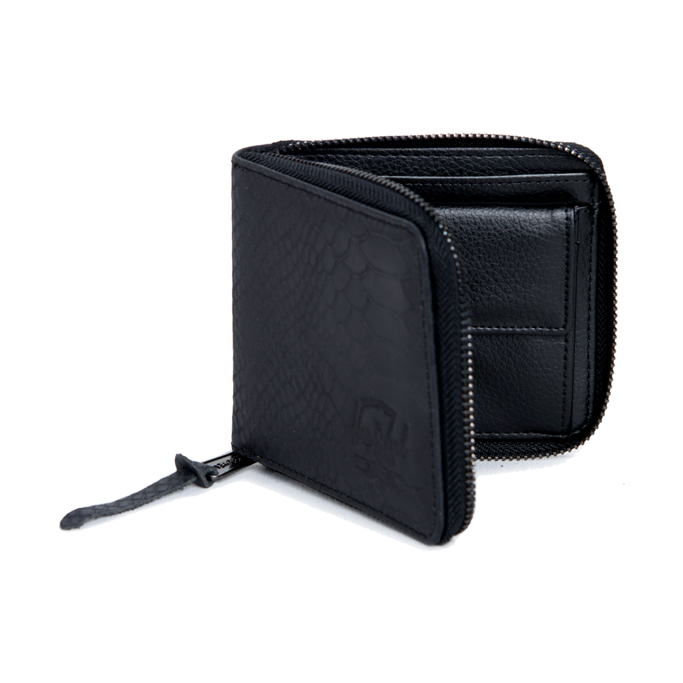 Herschel Walt Wallet Leather Black Snake