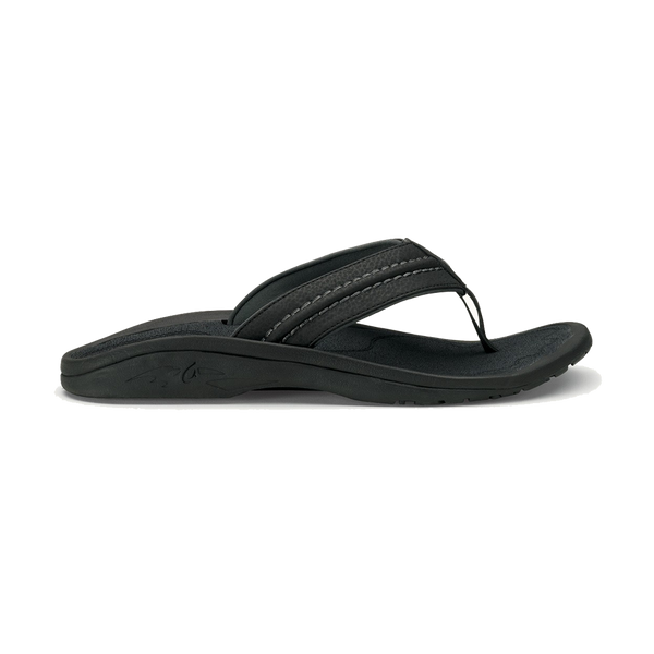 Olukai Men's Hokua Black/Dark Shadow