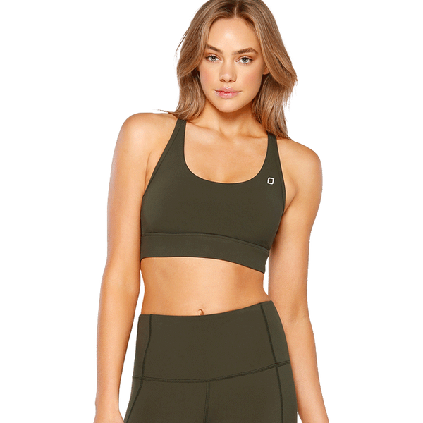 Lorna Jane Women's Sonya Sports Bra Dark Safari