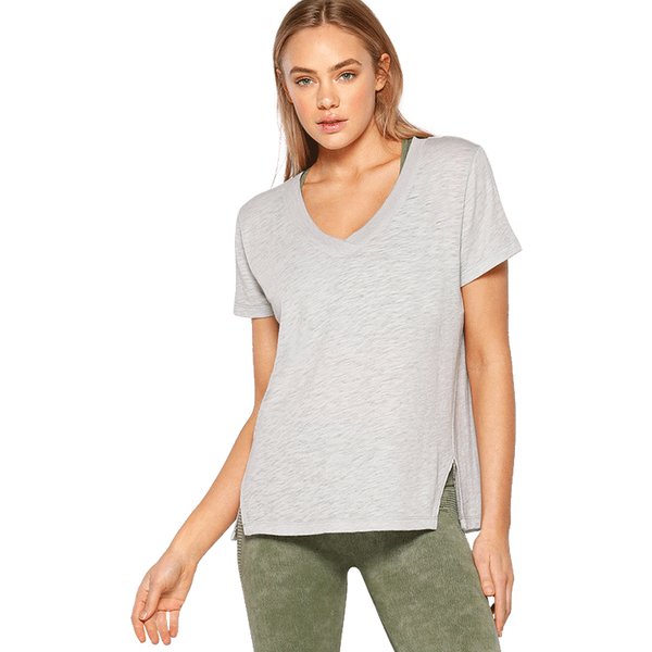 Lorna Jane Women's Harmony Short Sleeve Tee Grey Marl