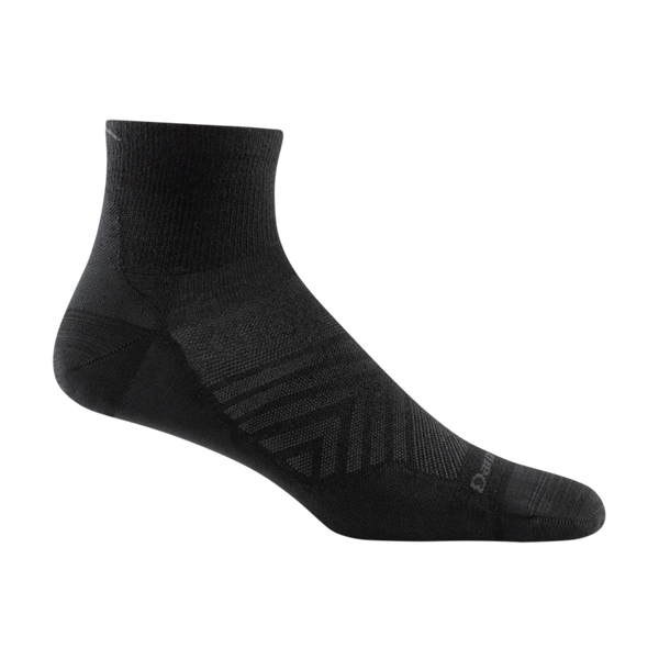 Darn Tough Men's Run Quarter Ultra-Lightweight Running Sock Black