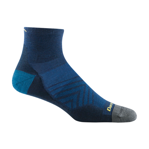 Darn Tough Men's Run Quarter Ultra-Lightweight Running Sock Eclipse