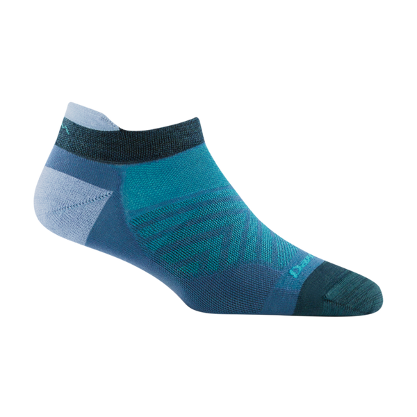 Darn Tough Women's Run No Show Tab Ultra-Lightweight Running Sock Baltic