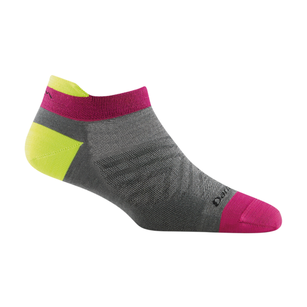 Darn Tough Women's Run No Show Tab Ultra-Lightweight Running Sock Gray