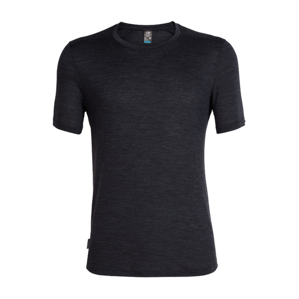 Icebreaker Men's Sphere SS Crewe Black Heather