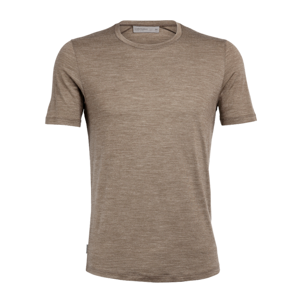 Icebreaker Men's Sphere SS Crewe Driftwood Heather