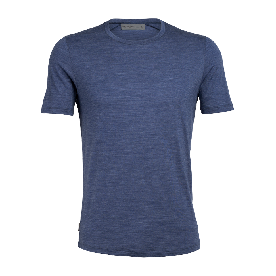 Icebreaker Men's Sphere SS Crewe Estate Blue