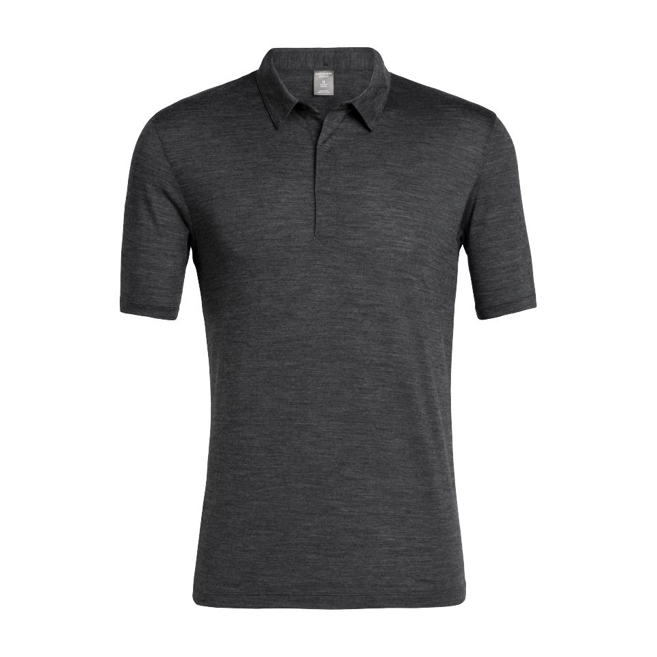 Icebreaker Men's Solace SS Polo Black Heather