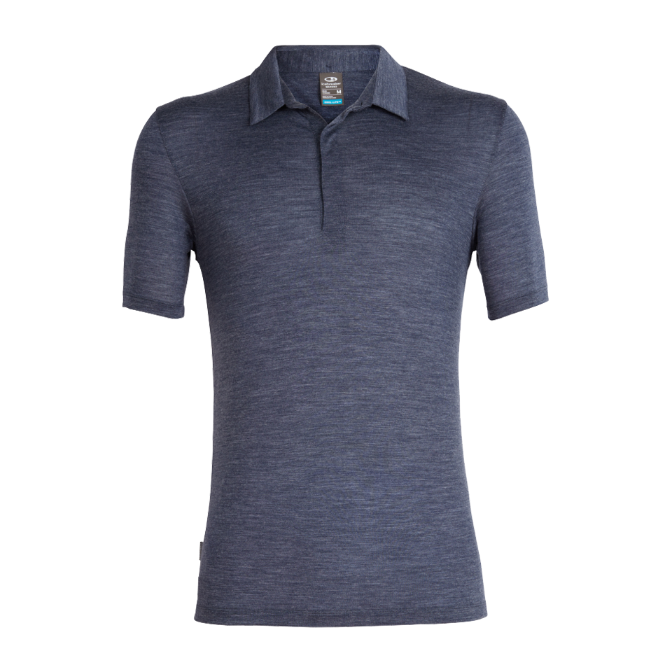 Icebreaker Men's Solace SS Polo Midnight Navy Heather