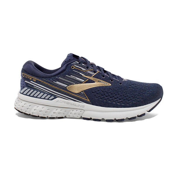 Brooks Men's Adrenaline GTS 19 Navy/Gold/Grey