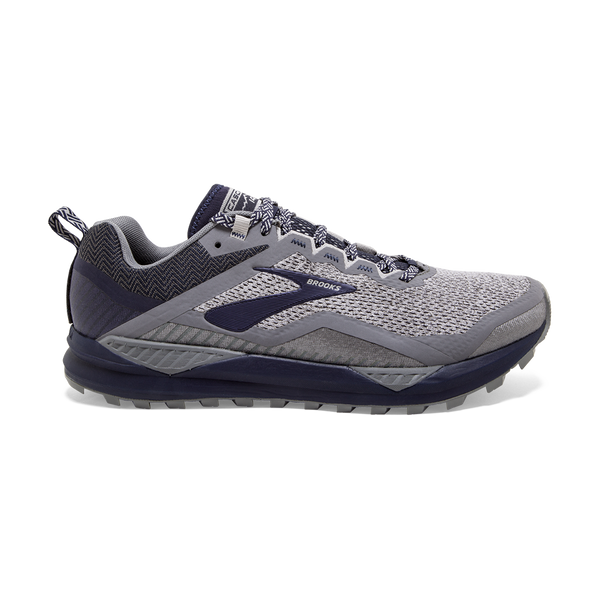 Brooks Mens Cascadia 14 Grey/Navy