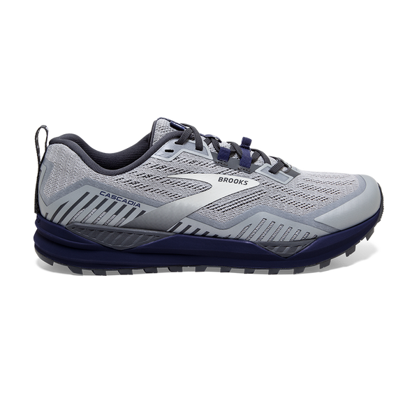 Brooks Men's Cascadia 15 Ebony/Silver/Deep Cobalt