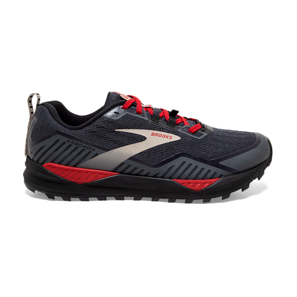 Brooks Men's Cascadia 15 GTX Black/Ebony/Red