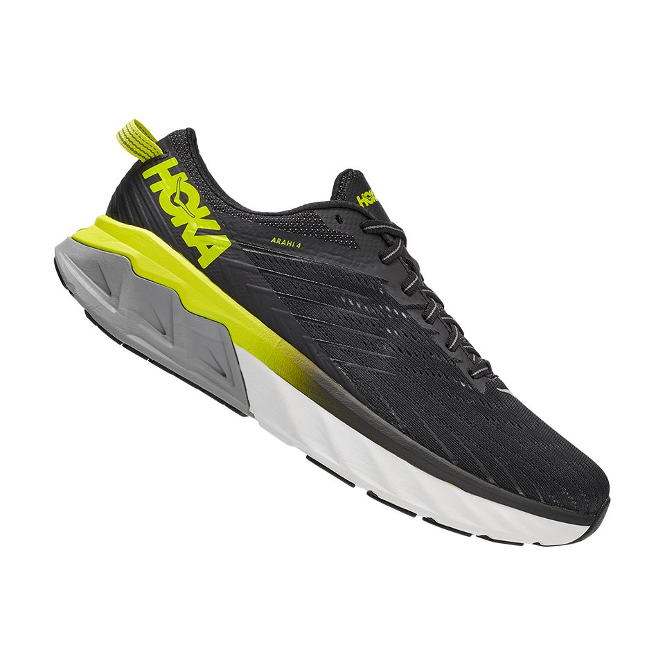Hoka One One Men's Arahi 4 Black/Evening Primrose