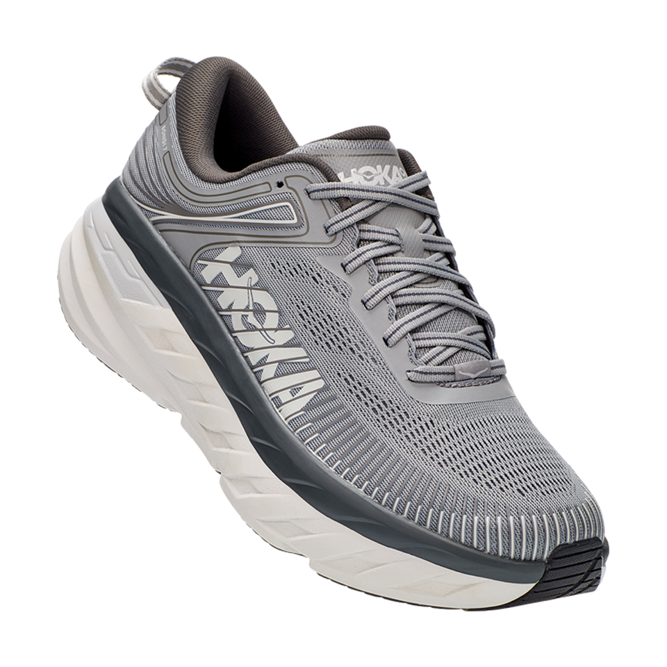 Hoka One One Men's Bondi 7 D Width Wild Dove/Dark Shadow