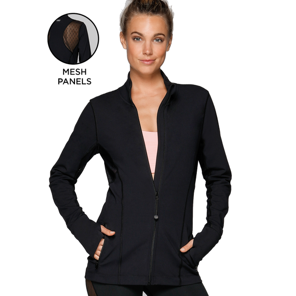 Lorna Jane Women's Bella Excel Zip Through Black
