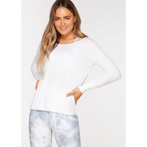 Lorna Jane Women's Perfect Practice Long Sleeve White