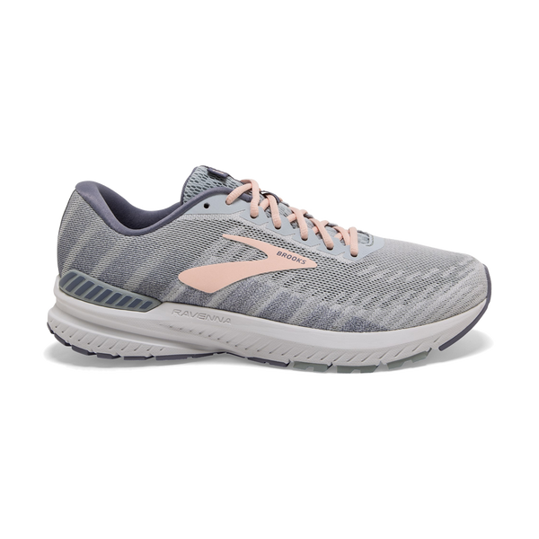 Brooks Women's Ravenna 10 White/Grey/Pale Peach