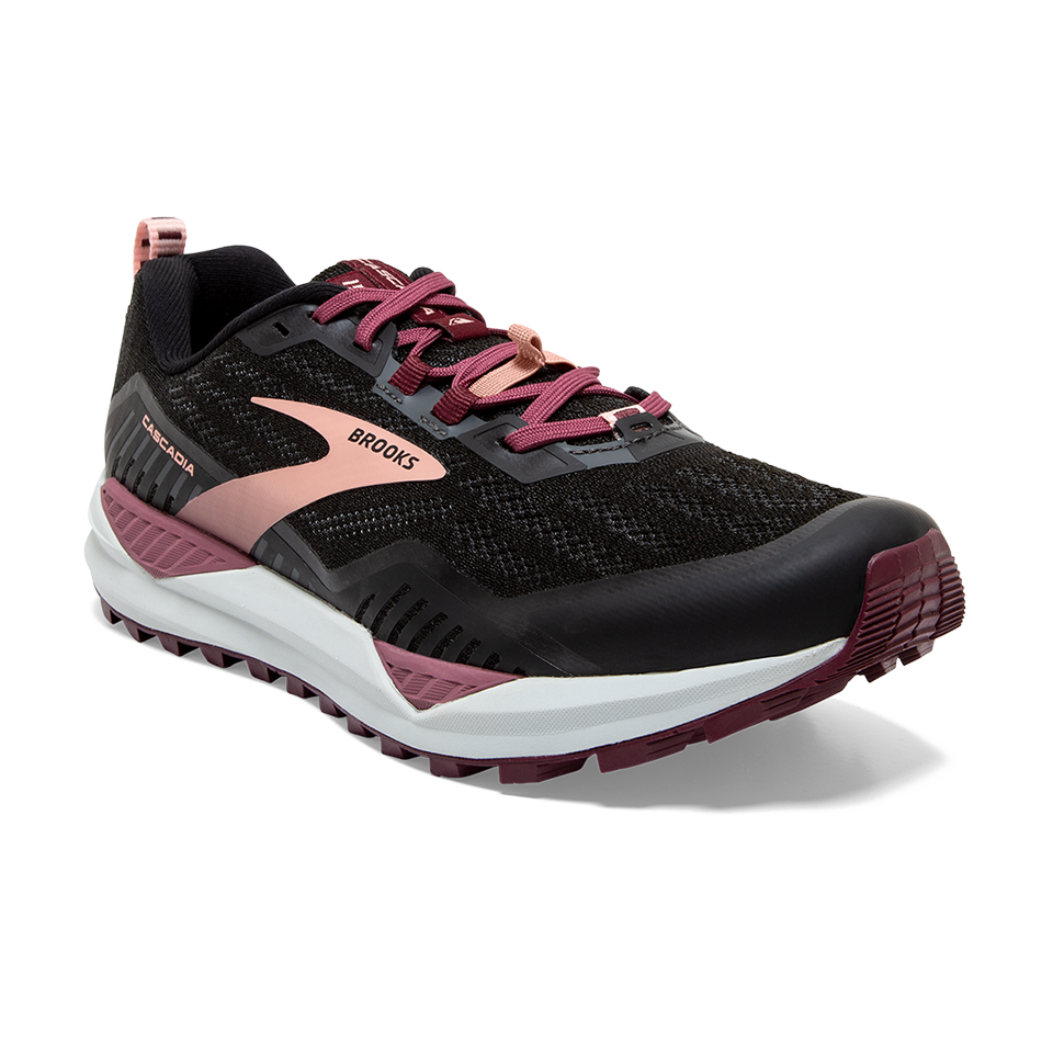 Brooks Women's Cascadia 15 Black/Ebony/Coral Cloud