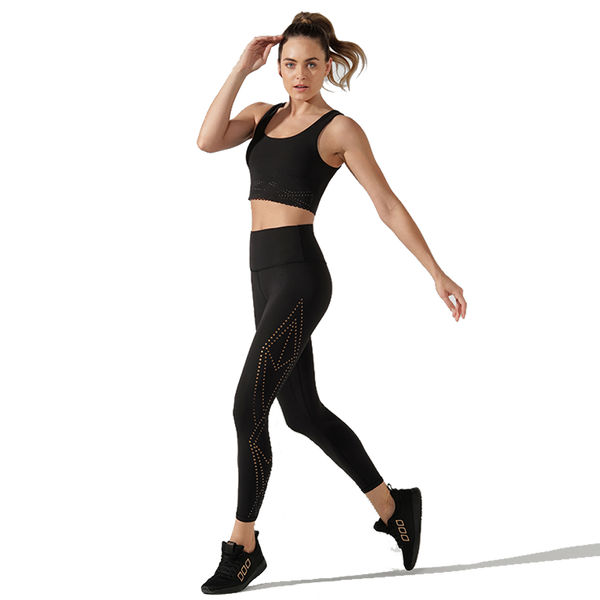 Lorna Jane Women's Elevate Ankle Biter Tight Black