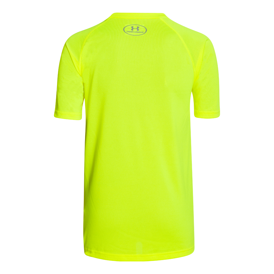 Under Armour Boys Short Sleeve Tech Logo T-Shirt Yellow