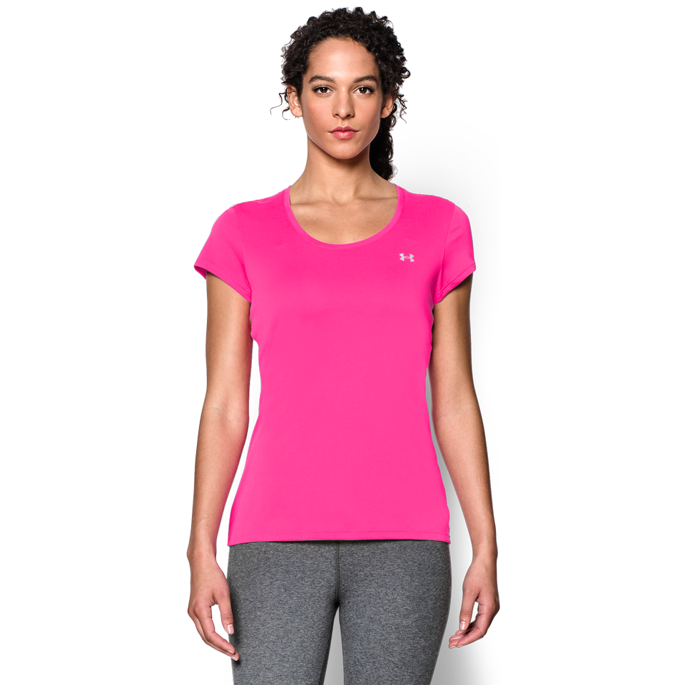 Under Armour Women's Flyweight Short Sleeve Running Shirt Pink