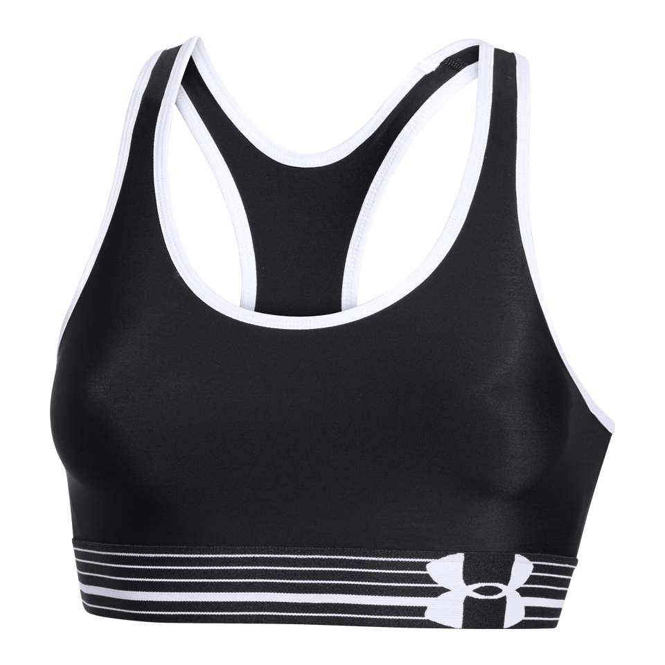 Under Armour Women's HeatGear Sports Bra Black/White