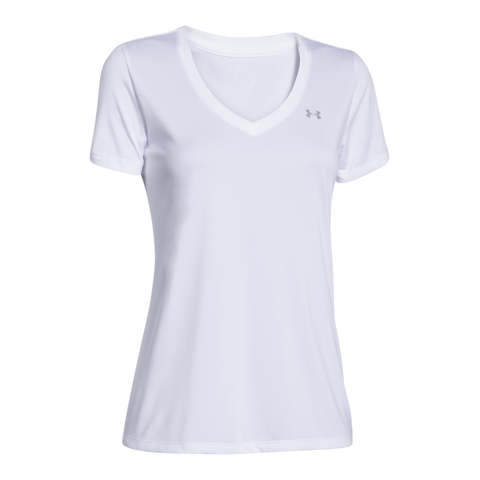 Under Armour Women's Tech V-Neck White