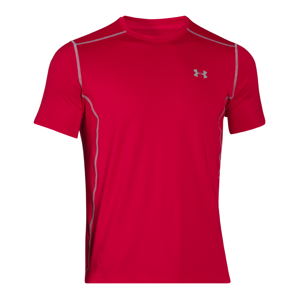 Under Armour Men's Short Sleeve Raid Tee Red