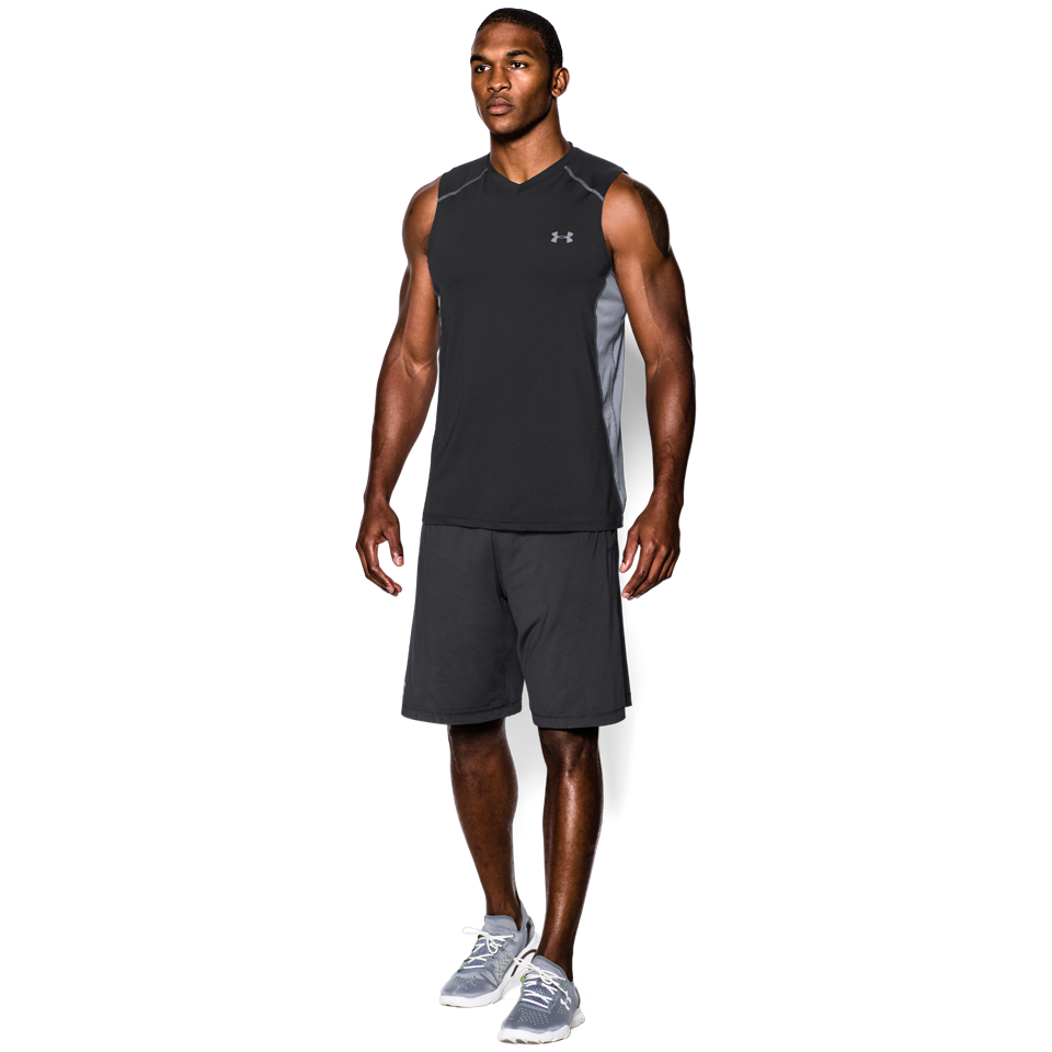 Under Armour Men's Raid Sleeveless Tee Black